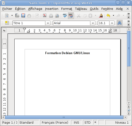Writer, le traitement de texte d'OpenOffice.org